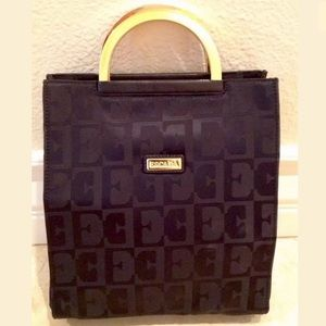 ESCADA Black Gold Signature Logo M Tote Bag ITALY!
